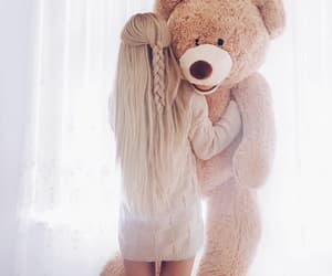 girl, bear, and fashion image