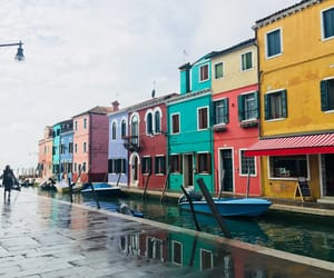 canal, color, and italy image