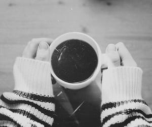 b&w, black and white, and tea image