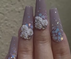 nails, coffin nails, and flower nails image