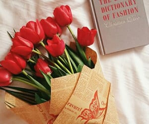 book, fashion, and flowers image