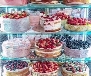 cakes, food, and fruit image