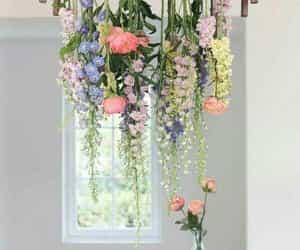 flowers, interior, and interior design image