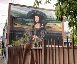 art, mona lisa, and street art image