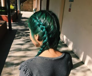 braids, girl, and green image