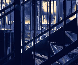 blue, navy, and staircase image