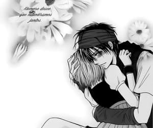 black and white, romance, and girl x boy image