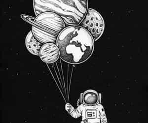 astronauta, planet, and papel de parede image