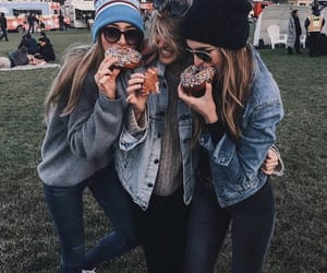 friends, donuts, and best friends image