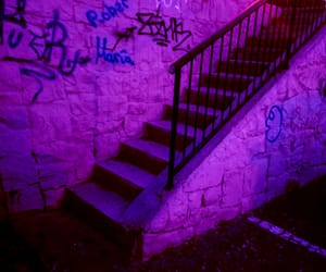 aesthetic, stairs, and glow image