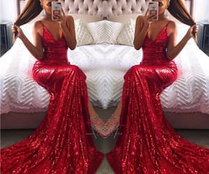 prom dress and sequin prom dress image