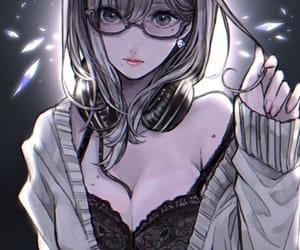 glasses and headphones image