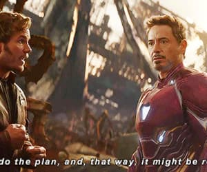 gif, iron man, and Marvel image
