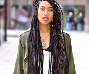 hair, braid, and box braids image