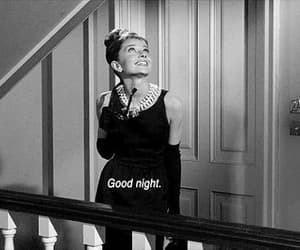 audrey hepburn, Breakfast at Tiffany's, and good night image