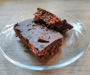 chocolate, healthy dessert, and brownie image