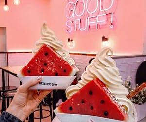 food, happy, and ice cream image