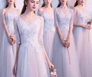 girl, tulle, and bridesmaid dress image