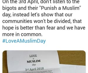 love a muslim day, spread love, and support humanity image