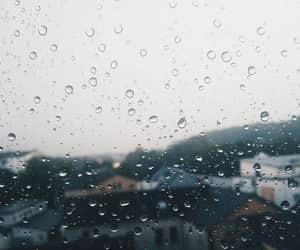 aesthetic, rain, and raindrops image