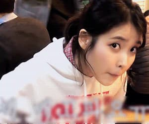 gif, iu, and leejieun image