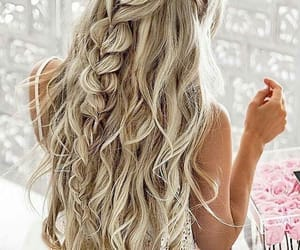 blonde, gurl, and hair image