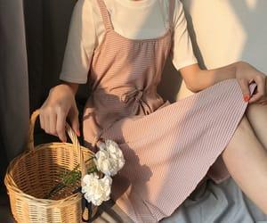 fashion, pink, and korean fashion image
