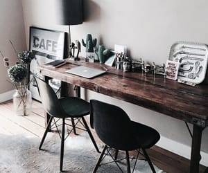 home, desk, and interior image