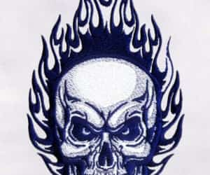 designs, embroidery, and skull image