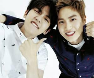 suho, exo, and baekhyun image