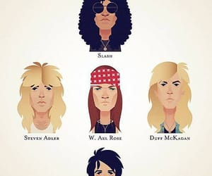 art, axl rose, and band image