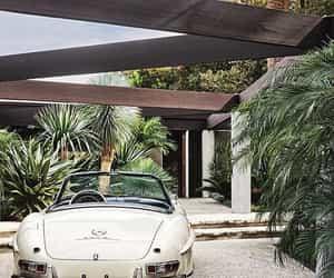 car, villa, and garden image