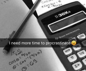 meme, procrastination, and school image