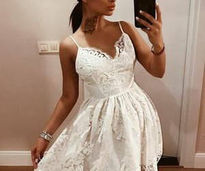 dresses, prom dress, and white prom dress image