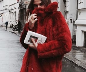 fashion, red, and winter image