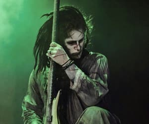bassist, motionless in white, and devin ghost sola image