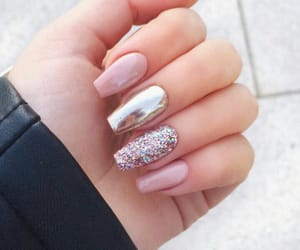 colour, glitter, and nails image