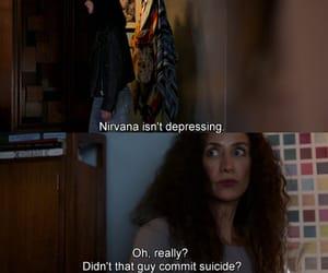 depression, krysten ritter, and nirvana image