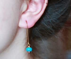 delicate, earrings, and jewelry image