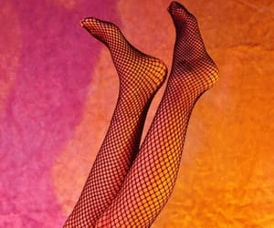 fishnet stockings, hipster, and pink glow image