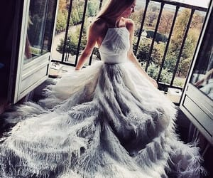 balcony, ball gown, and fashion image