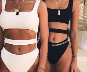 black and white, swimsuit, and summer vibes image