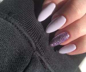 glitter, lilac, and long nails image