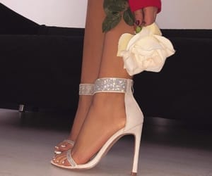 heels, red, and roses image