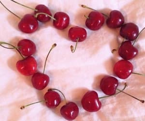cherry, heart, and pink image