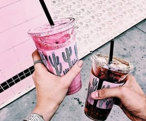 drink, pink, and coffee image