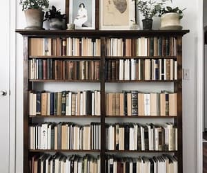 books, home, and interior image