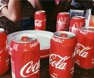 cans, coca, and food image