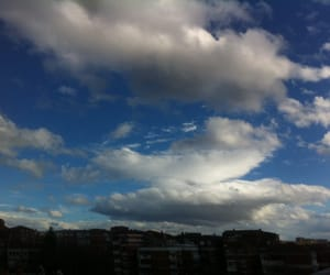blue, city, and clouds image
