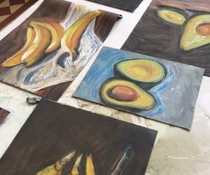 art, artist, and bananas image